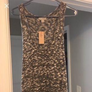 Gray AE Heathered Sweater Tank Top